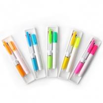[볼펜선물세트]컬러2색볼펜+향기형광펜세트