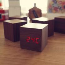 [탁상시계]LED우드탁상시계(소)